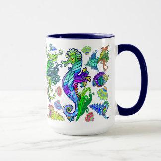 Marine Life Exotic Fishes & SeaHorses Mug