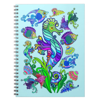 Marine Life Exotic Fishes & SeaHorses Note Book