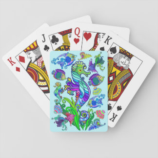 Marine Life Exotic Fishes & SeaHorses Playing Cards