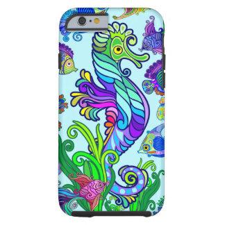 Marine Life Exotic Fishes & SeaHorses Tough iPhone 6 Case