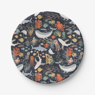Marine Life Paper Plate