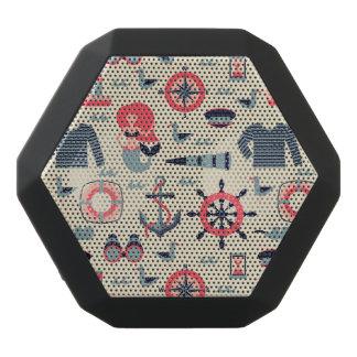 Marine Life Pattern Black Bluetooth Speaker
