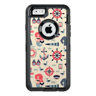 Marine Life Pattern OtterBox Defender iPhone Case
