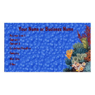 Marine Life Underwater Coral Reef Profile Card Business Card Template