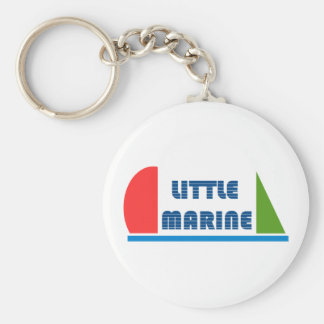 Marine Little Basic Round Button Key Ring
