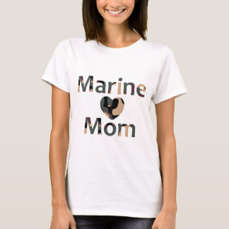 Marine Mom Heart Camo T-Shirt