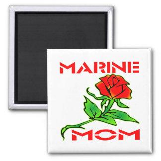 Marine Mom Square Magnet
