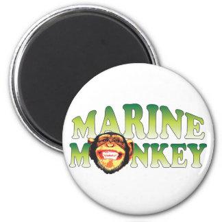 Marine Monkey. Refrigerator Magnets