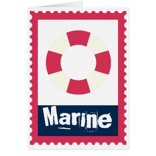 Marine - Nautical Life Ring Cards
