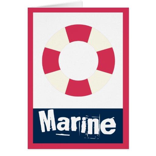 Marine - Nautical Life Ring Greeting Card