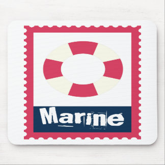 Marine - Nautical Life Ring Mouse Pads