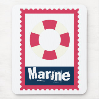 Marine - Nautical Life Ring Mouse Pad