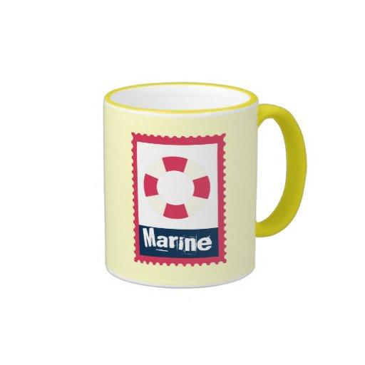 Marine - Nautical Life Ring Mug