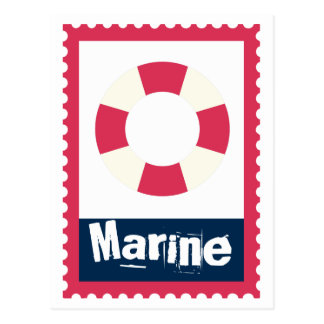 Marine - Nautical Life Ring Postcard