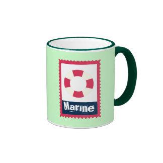Marine - Nautical Life Ring Ringer Mug