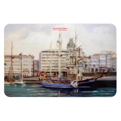 Marine navy//Marinates Rectangle Magnets