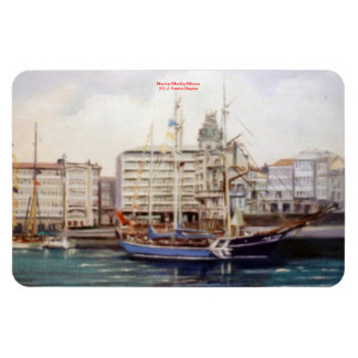 Marine navy//Marinates Rectangular Photo Magnet
