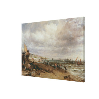 Marine Parade and Old Chain Pier, 1827 Canvas Print