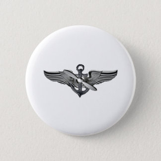 marine pilot wings 6 cm round badge