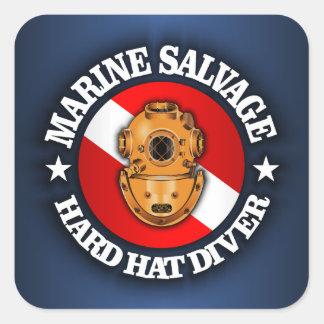 Marine Salvage Square Sticker