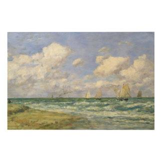 Marine scene, 1894 wood print