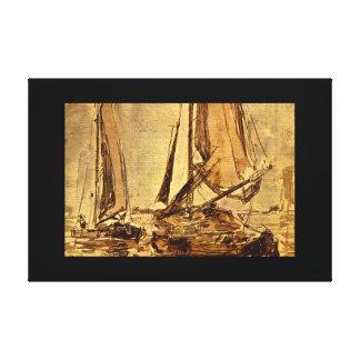 Marine Scene', Eugene_Studies of the Masters Canvas Print