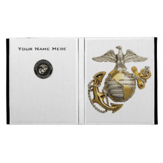 Marine scout sniper and marine logo iPad folio cases