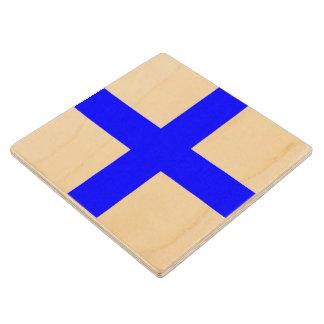 Marine Sign Flag Alphabet Letter X Xray Symbol Maple Wood Coaster