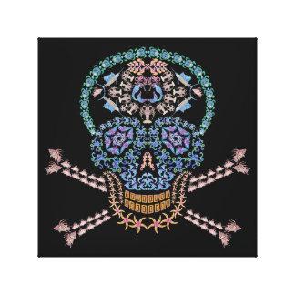 Marine Skull and Crossbones Canvas Print