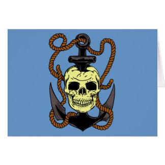 Marine Skull Tattoo Greeting Card