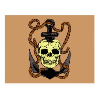 Marine Skull Tattoo Post Card