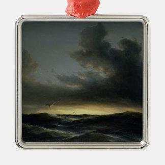 Marine Solitude, 1852 Silver-Colored Square Decoration
