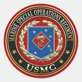 Marine Special Operations Regiment (MSOR) [3D] Classic Round Sticker