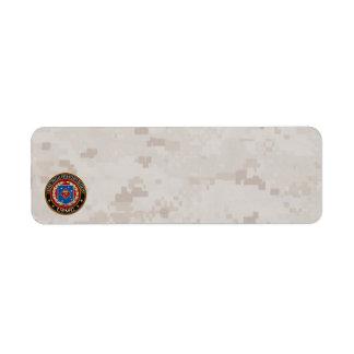 Marine Special Operations Regiment (MSOR) [3D] Return Address Label