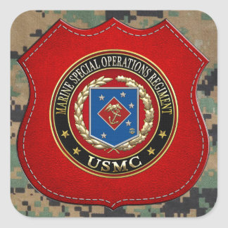 Marine Special Operations Regiment (MSOR) [3D] Square Sticker