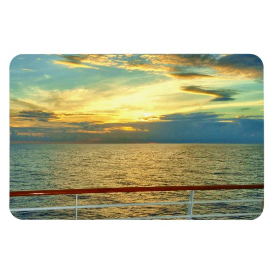 Marine Sunrise Horizontal Rectangular Photo Magnet