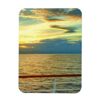 Marine Sunrise Vertical Rectangular Photo Magnet