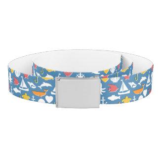 Marine Symbols Pattern Belt