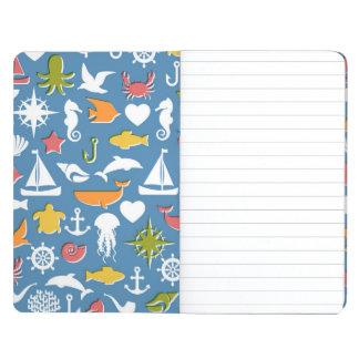Marine Symbols Pattern Journals