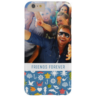 Marine Symbols Pattern | Your Photo & Text Barely There iPhone 6 Plus Case