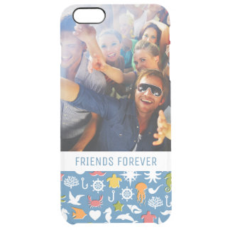 Marine Symbols Pattern | Your Photo & Text Clear iPhone 6 Plus Case