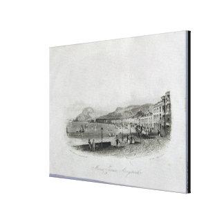 Marine Terrace, Aberystwyth, 1844 (engraving and a Canvas Print