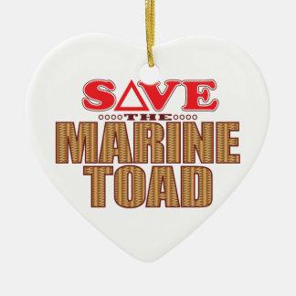 Marine Toad Save Ceramic Heart Decoration