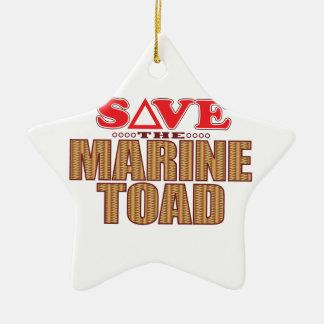 Marine Toad Save Ceramic Star Decoration