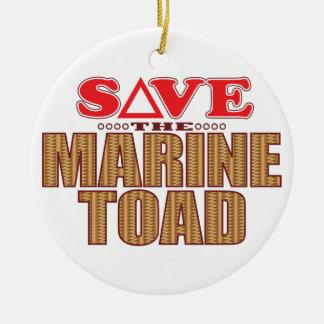 Marine Toad Save Round Ceramic Decoration