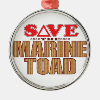 Marine Toad Save Silver-Colored Round Decoration