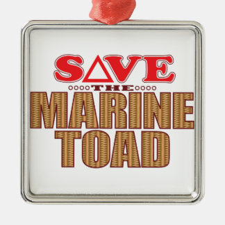 Marine Toad Save Silver-Colored Square Decoration