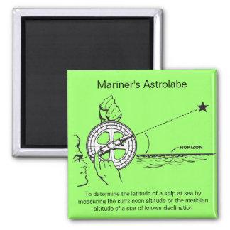 Mariner's Astrolabe Square Magnet
