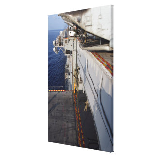 Marines and sailors fast-rope canvas print