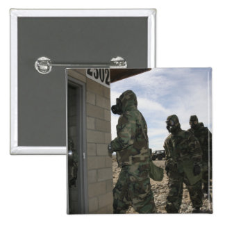 Marines and Sailors file into the gas chamber 15 Cm Square Badge